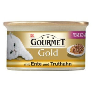 Gourmet Gold Feine Komposition 12 x 85 g - Rind & Huhn
