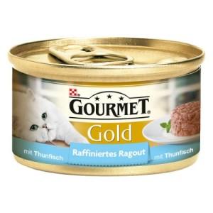 Gourmet Gold Raffiniertes Ragout 12/24/48 x 85 g - Lachs (12 x 85 g)
