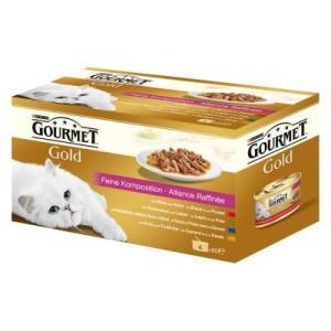 Gourmet Gold Vielfalt 12 x 85 g - Zarte Häppchen