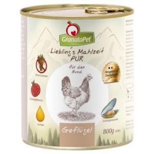 GranataPet Liebling's Mahlzeit Pur 12 x 800 g - Wild