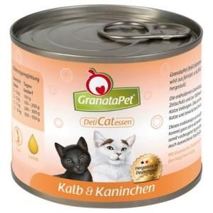 GranataPet Probierpaket 6 x 200 g - passende Dosendeckel (3er Set)