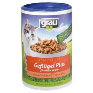 Grau Basic Cat Care Geflügel Plus - 5 kg