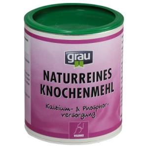 Grau Knochenmehl - 4 x 400 g