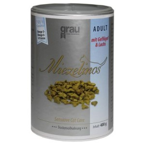 Grau Miezelinos Adult mit Geflügel & Lachs - 400 g