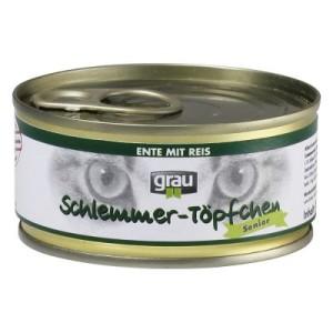 Grau Schlemmertöpfchen Senior Ente mit Reis - 6 x 100 g