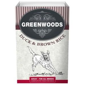 Greenwoods Adult Nassnahrung in der Schale 6 x 395 g - Ente & brauner Reis