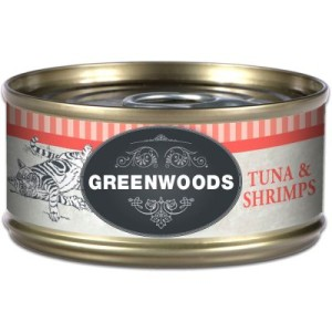 Greenwoods Adult Thunfisch & Shrimps - 6 x 70 g