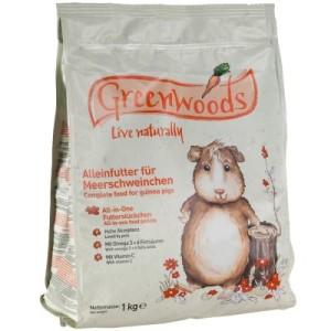 Greenwoods Meerschweinchenfutter - 3 x 1 kg