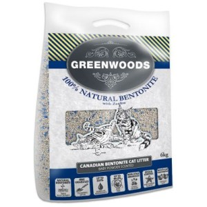 Greenwoods Naturton-Klumpstreu mit Zeolith - 6 kg