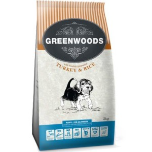 Greenwoods Puppy Truthahn & Reis - 2 kg