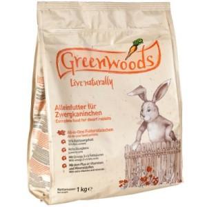 Greenwoods Zwergkaninchenfutter - 1 kg