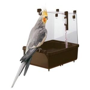 Großsittich Vogelbad - Maße: 23 x 15 x 24 cm