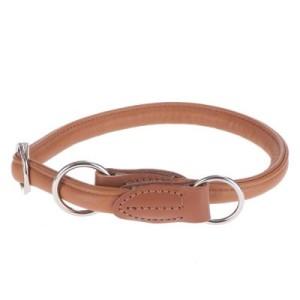 HUNTER Hundehalsband Round & Soft Elk cognac - Größe: max. 50 cm