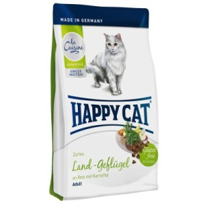 Happy Cat La Cuisine Land-Geflügel - Sparpaket: 2 x 4 kg