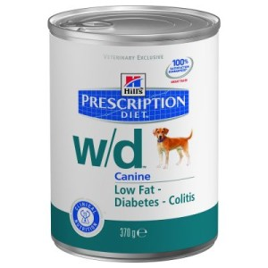 Hill´s Prescription Diet Canine w/d Low Fat - Diabetis - 24 x 370 g