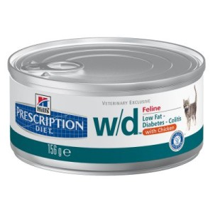Hill´s Prescription Diet Feline w/d - bei Übergewicht - 6 x 156 g