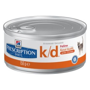 Hill's Prescription Diet Feline k/d Huhn - Nierenerkrankung - 24 x 156 g