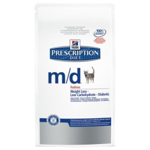 Hill's Prescription Diet Feline m/d bei Übergewicht/Diabetes - Sparpaket: 2 x 5 kg