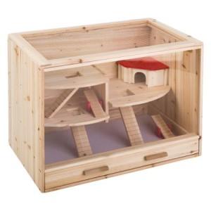Holzkäfig Loft - natur: L 80 x T 50 x H 60 cm