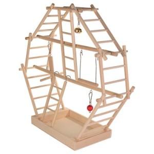 Holzleiter-Spielplatz - L 44 x B 16 x H 42 cm