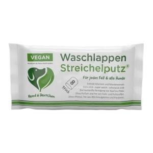 Hund & Herrchen Waschlappen Streichelputz - 1 Packung mit 8 Stück