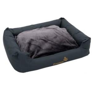 Hundebett Sleepy Time grey mit Kissen - L 80 x B 65 x H 30 cm