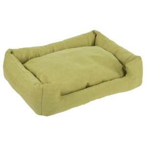 Hundebett mit Möbelstoff grün - L 70 x B 50 x H 15 cm