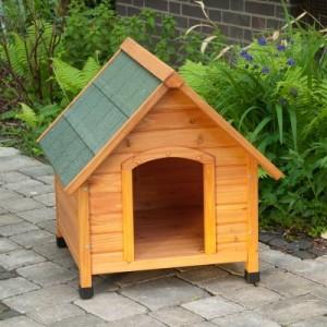 Hundehütte Spike Komfort mit Kunststofftür - Größe M: B 78 x T 88 x H 81 cm