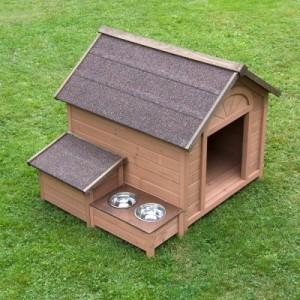 Hundehütte Sylvan Komfort - Grösse L: B 104 x T 91 x H 81 cm