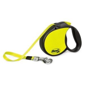Hundeleine flexi Neon Reflect - M: bis 20 kg (Seil)