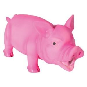 Hundespielzeug Latex-Schwein mit Stimme - 1 Stück 23 cm
