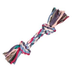 Hundespielzeug Spieltau Bunt - 26 cm mit 2 Knoten
