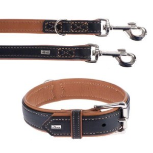 Hunter Set: Halsband + Leine Canadian Elk - Größe Halsband 50 + Leine 200 cm/20 mm