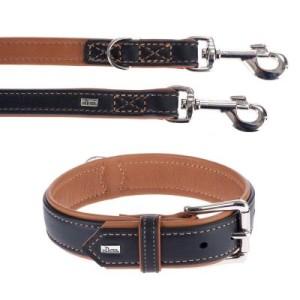 Hunter Set: Halsband + Leine Canadian Elk - Größe Halsband 55 + Leine 200 cm/20 mm
