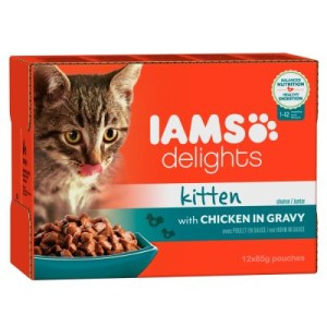 IAMS Delights Kitten in Sauce 12 x 85 g - Huhn