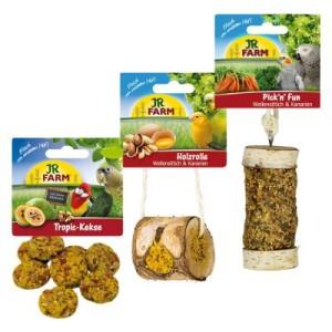 JR Farm Paket für Wellensittiche und Kanarien - Doppelpack 2 x Set mit 3 Artikeln