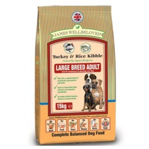 James Wellbeloved Adult Large Breed Truthahn & Reis - Sparpaket: 2 x 15 kg