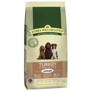 James Wellbeloved Junior Truthahn & Reis - Sparpaket: 2 x 15 kg