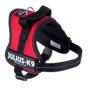 Julius-K9 Powergeschirr - rot - Größe 0: 58 - 76 cm Brustumfang