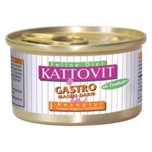 Kattovit Gastro Nassfutter 12 x 85 g - 12 x 85 g mit Truthahn
