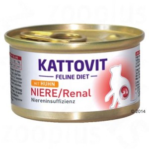 Kattovit Niere/Renal (Niereninsuffizienz) Nassfutter - 12 x 85 g Huhn