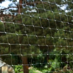 Katzenschutznetz Rollenware - oliv mit Drahtverstärkung