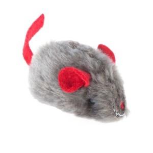 Katzenspielzeug Maus mit Katzenminze und Stimme - 1 Stück