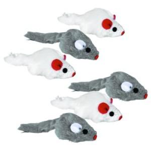Katzenspielzeug Trixie Plüschmäuse 6er Pack - 6 Stück