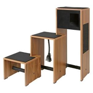 Kerbl Kratzbaum Ambiente - dunkles Holzdekor/schwarz