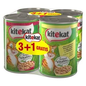 Kitekat 3 + 1 gratis! 4 x 400 g Kitekat Nassfutter - 2 x Huhn