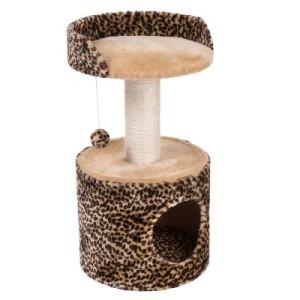 Kratzbaum Leo - Leoparden-Design/beige