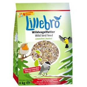 Lillebro Wildvogelfutter schalenfrei - 3 x 4 kg