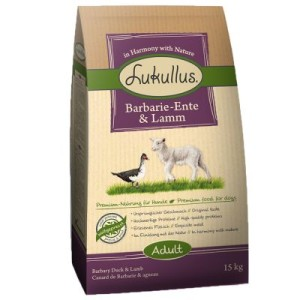 Lukullus Barbarie-Ente & Lamm - Sparpaket: 2 x 15 kg