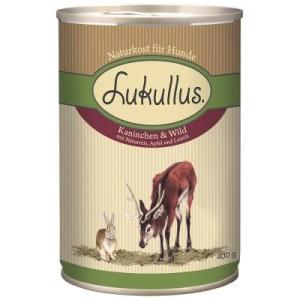 Lukullus Einzeldose 1 x 400 g - Kaninchen & Wild